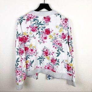 293f5e73b5b86 torrid Jackets   Coats - Torrid Floral White Zipper Jacket